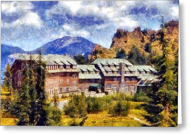Crater Lake Lodge Greeting Card by Kaylee Mason