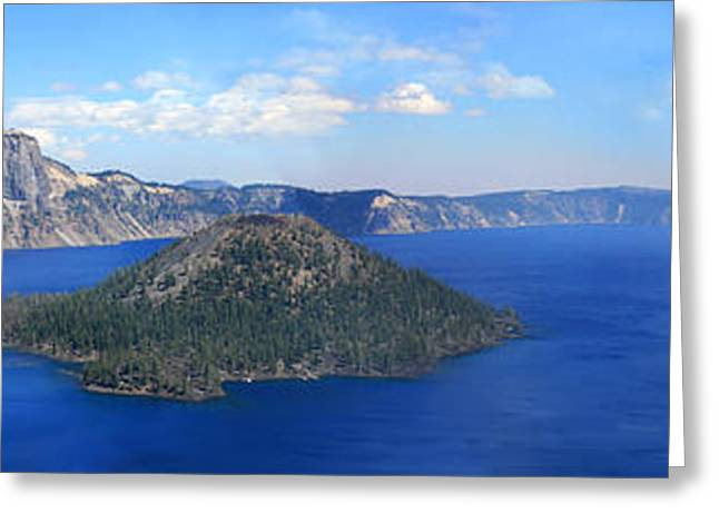 Crater Lake Greeting Card by Melisa Meyers