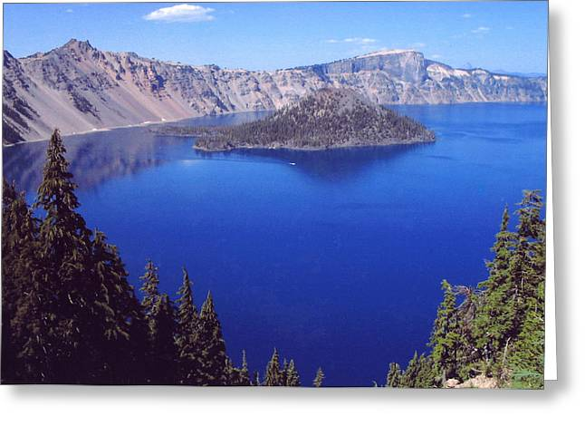Greeting Card featuring the photograph Crater Lake Oregon by Mary Bedy