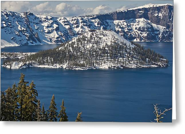 Crater Lake Oregon Greeting Card by Steven Lapkin