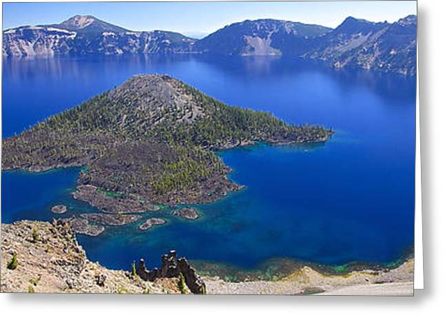 Greeting Card featuring the photograph Crater Lake Panorama 090914a by Todd Kreuter