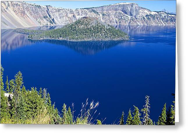Greeting Card featuring the photograph Crater Lake Panorama 090914b by Todd Kreuter