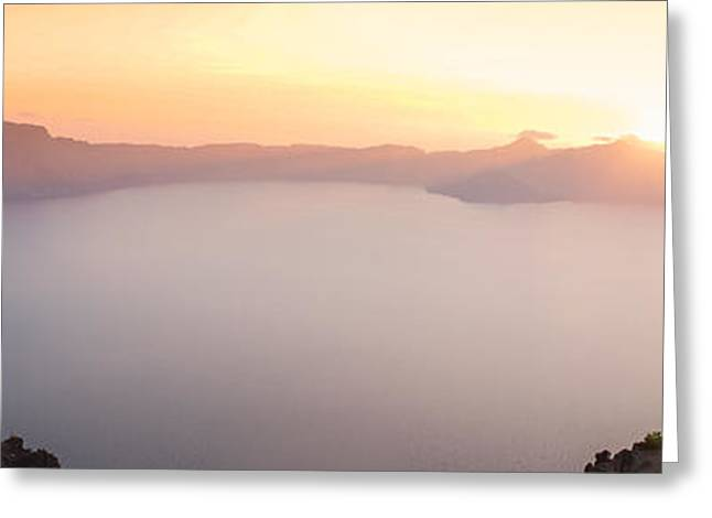 Crater Lake Panorama Greeting Card