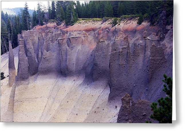 Crater Lake Pinnacles Greeting Card
