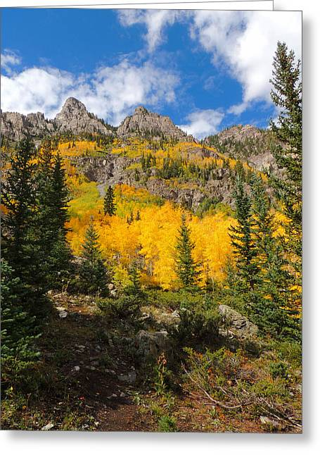 Crater Lake Trail 2 Greeting Card by Steve Anderson