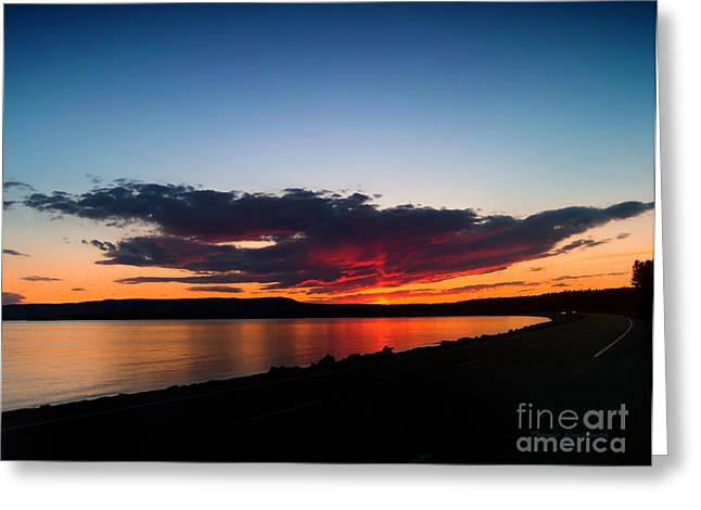 Crater Lake Yellowstone National Park Montana Greeting Card by Thomas Woolworth