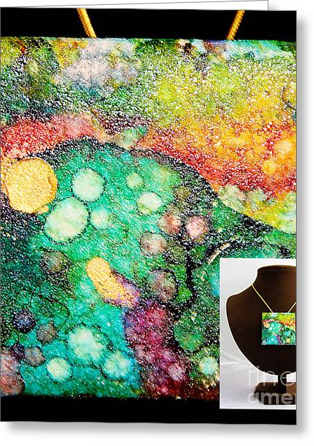 Crater Mountain Necklace Greeting Card by Alene Sirott-Cope