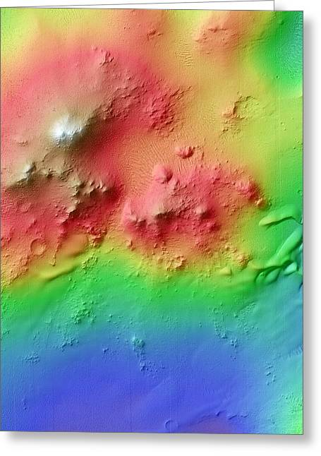 Crater Uplift Greeting Card