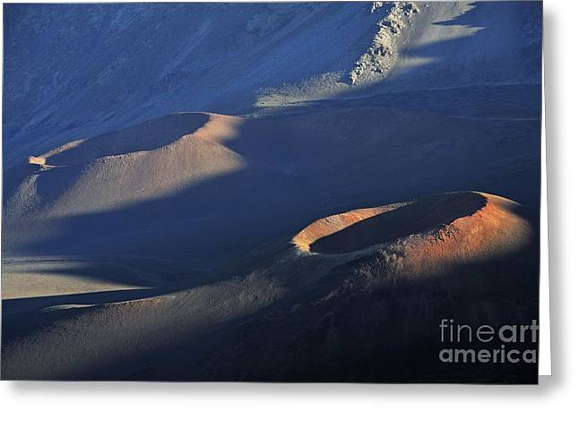 Craters At Sunset Greeting Card by Sami Sarkis