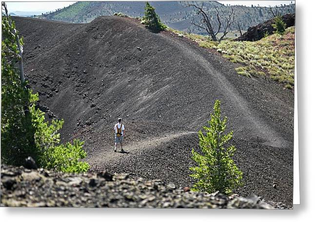 Craters Of The Moon Hiking Trail Greeting Card