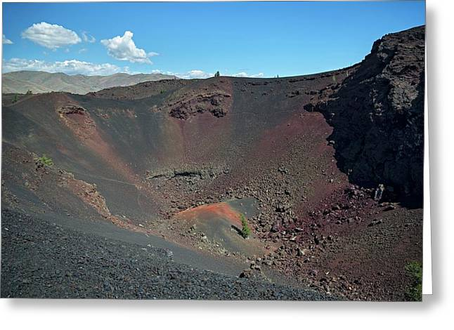 Craters Of The Moon Volcanic Crater Greeting Card