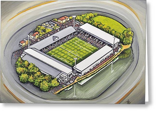 Craven Cottage - Fulham Fc Greeting Card by D J Rogers
