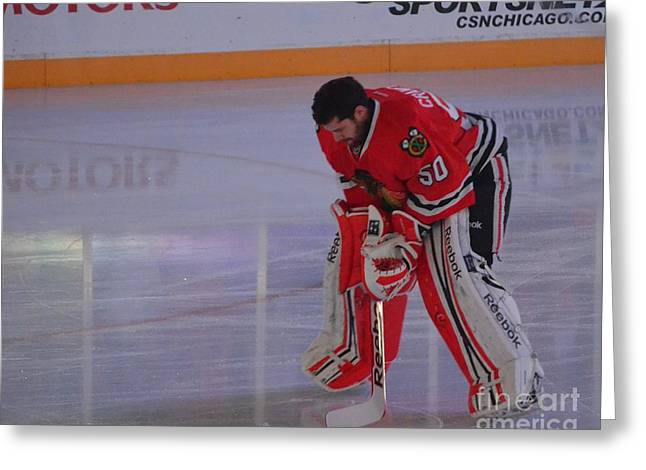 Crawford During The Anthem Greeting Card by Melissa Goodrich