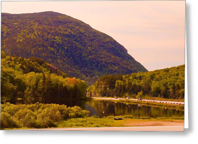 Crawford Notch Homage To Thomas Cole Greeting Card