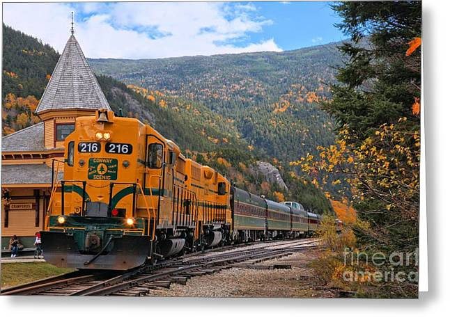 Crawford Notch Train Depot Greeting Card