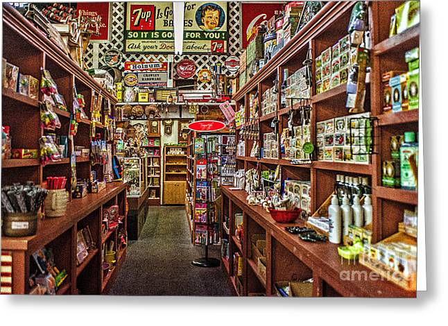 Crawley General Store Greeting Card by Tamyra Ayles