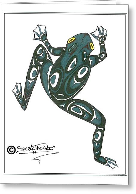 Crawling Tree Frog Greeting Card by Speakthunder