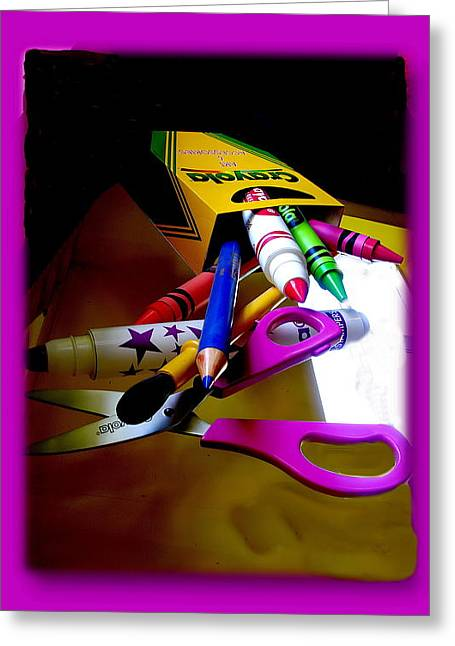 Crayola Factory Easton Pa Greeting Card by Jacqueline M Lewis