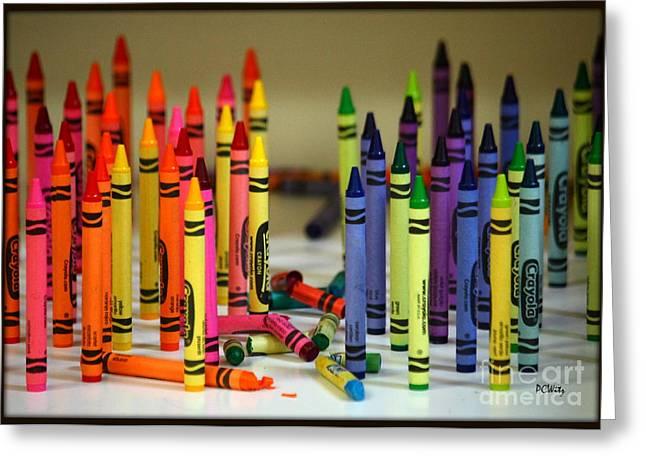 Crayon Wars Greeting Card