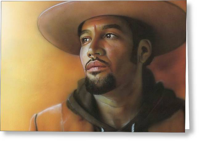 Ben Harper - ' Crazy Amazing ' Greeting Card by Christian Chapman Art