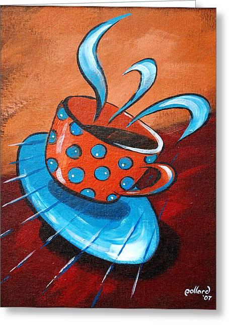 Crazy Coffee Greeting Card