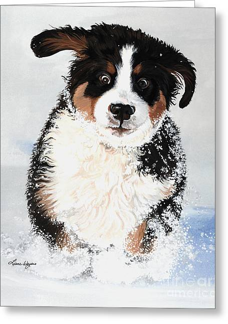 Crazy For Snow Greeting Card by Liane Weyers