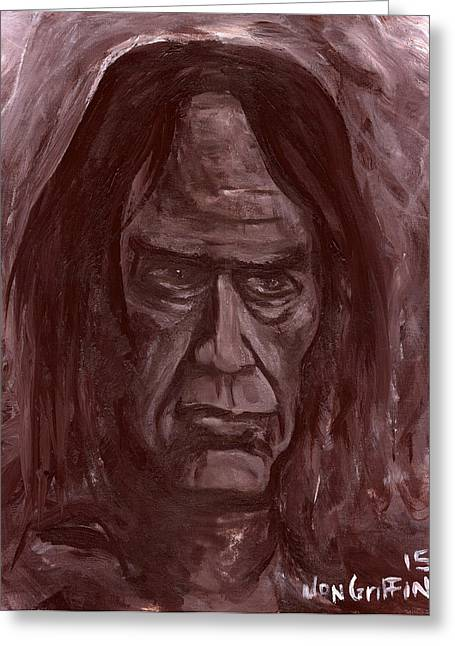 Crazy Horse Greeting Card by Jon Griffin