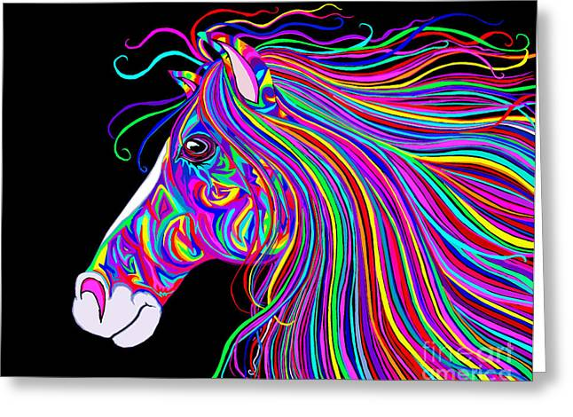 Crazy Horse Greeting Card by Nick Gustafson