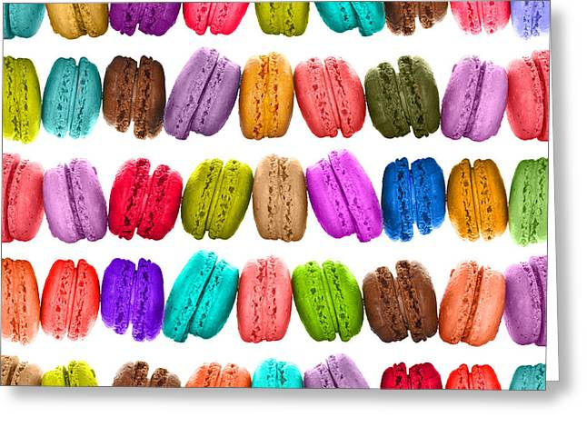 Crazy Macarons  Greeting Card by Delphimages Photo Creations