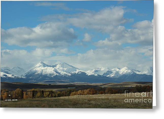 Crazy Mountains 1 Greeting Card by Brenda Henley