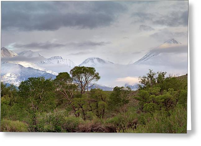 Crazy Mountains Dreamscape Greeting Card by Leland D Howard
