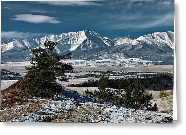Crazy Mountains Montana Greeting Card by Leland D Howard