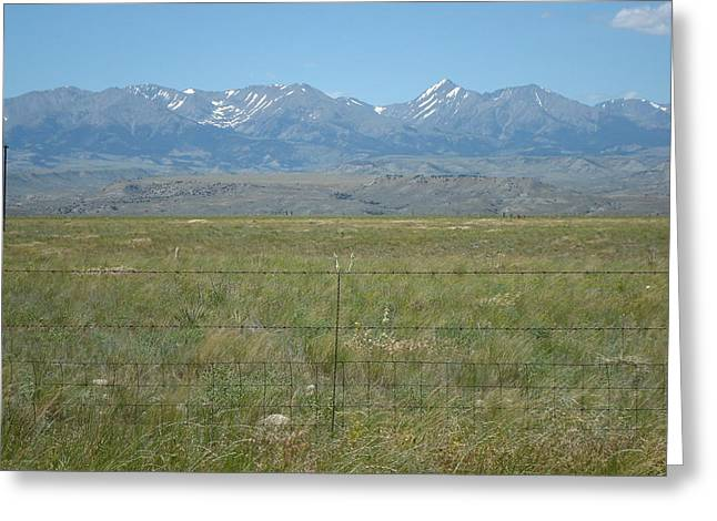 Crazy Mountains Greeting Card