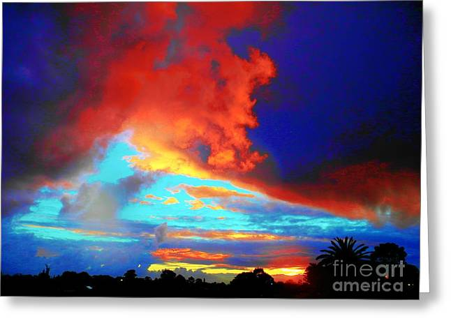 Greeting Card featuring the photograph Strange Sunset by Mark Blauhoefer