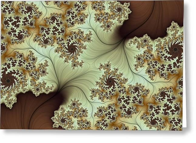 Greeting Card featuring the digital art Creamed Coffee by Lea Wiggins