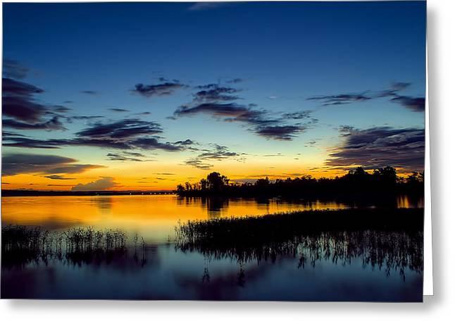 Creamy Sunset Greeting Card by Dan Holland