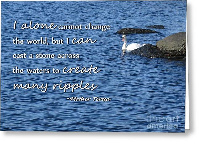 Create Many Ripples Greeting Card by Tammie Miller