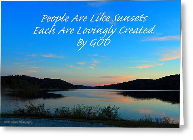 Created By God Greeting Card by Lorna Rogers Photography