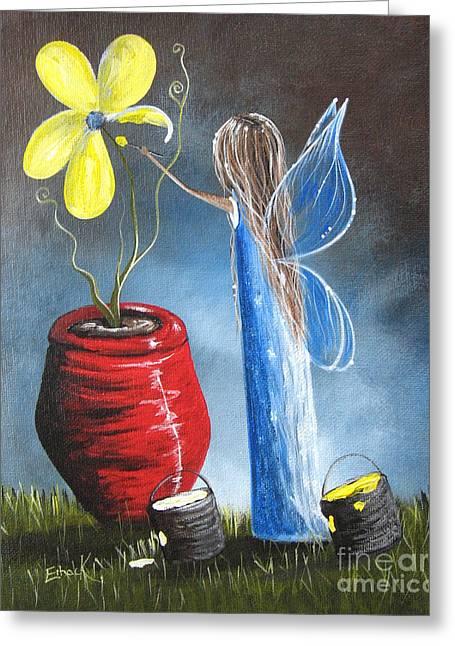 Creating Tomorrow Fairy By Shawna Erback Greeting Card by Shawna Erback