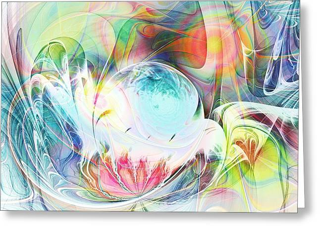 Creation Greeting Card by Anastasiya Malakhova