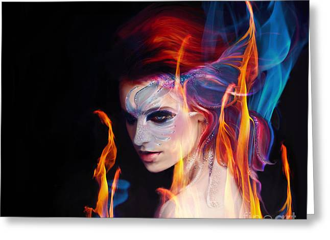 Creation Fire And Flow Greeting Card