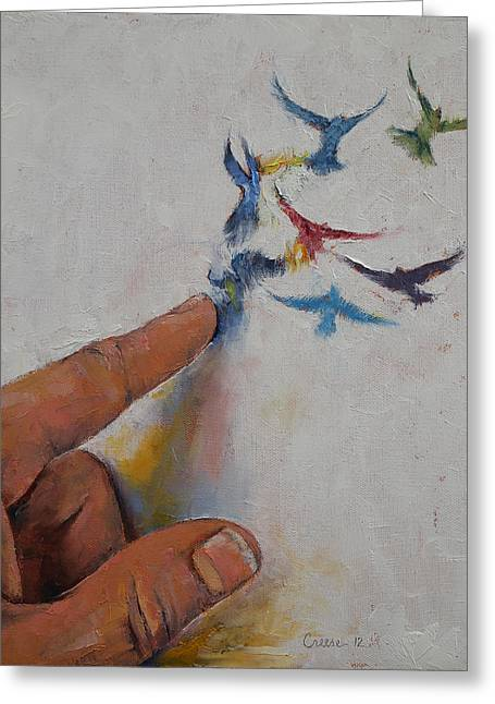 Creation Greeting Card by Michael Creese