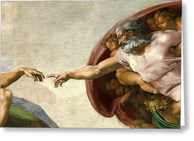 Creation Greeting Card by Michelangelo