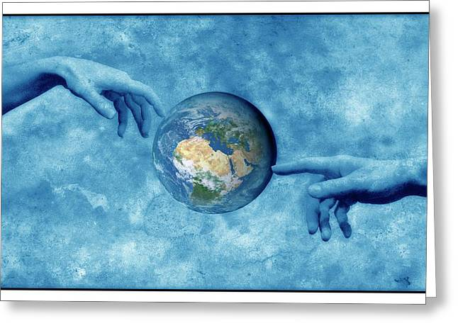 Creation Of The Earth Greeting Card by Detlev Van Ravenswaay