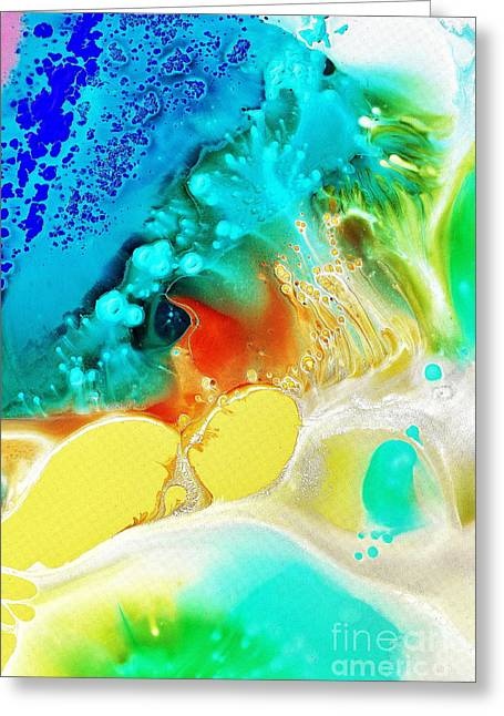 Creation Wave Greeting Card by Christine Ricker Brandt