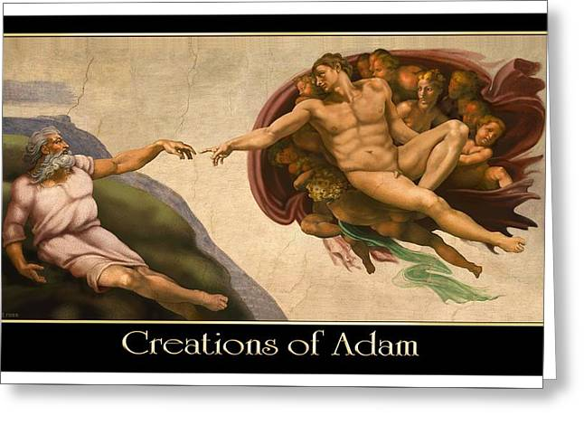 Creations Of Adam Greeting Card by Scott Ross
