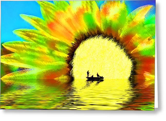 Creative Boating Greeting Card by Glenn McGloughlin