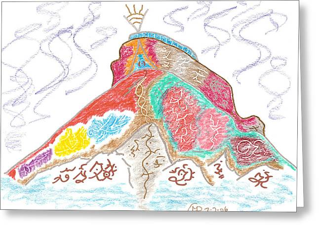 Creative Force Greeting Card by Mark David Gerson