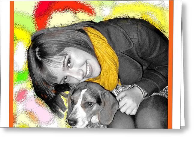 Creative Portrait Sample Greeting Card by Joan  Minchak