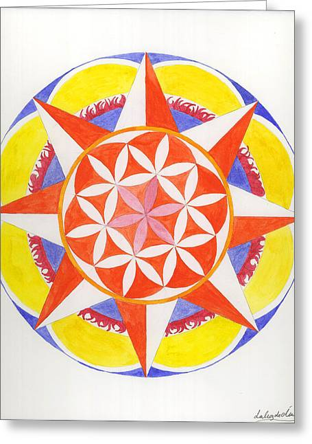 Creativity Mandala Greeting Card by Silvia Justo Fernandez